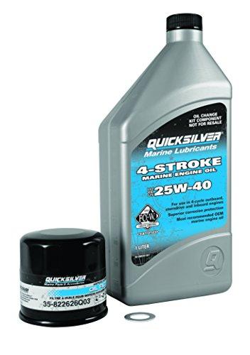 Quicksilver 4-Stroke CARB Oil Change Kit, 15/20 HP (4 Filter Stroke Oil)