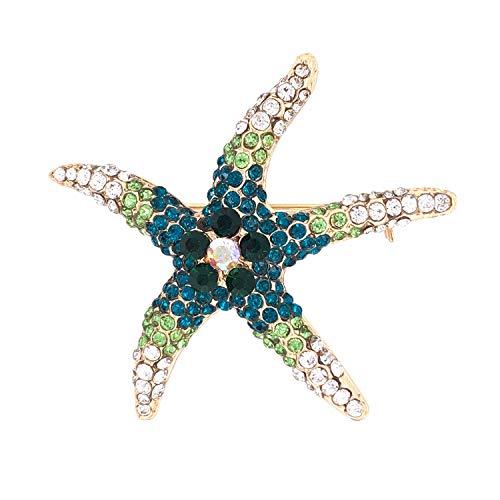 Jewelry Made By Me Coastal Jeweled Starfish Brooch Pin ()