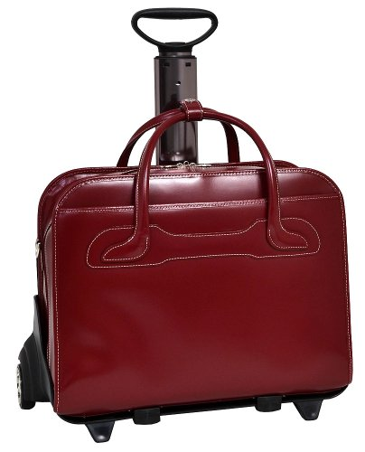 Red Wheeled Computer Cases (McKlein Women's Willowbrook Wheeled Laptop Case,Red,19.5