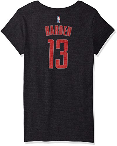 NBA Houston Rockets Adult Women Mesh Bling Name Cap sleeve Tee, X-Large, black