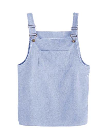 Minetom Kleider Damen Mädchen Frühling Sommer Elegant Cord Straps Kurze  Tasche Gerade Weste Lose Rock Kleid 7d984dc53e