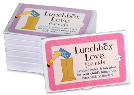 Lunchbox Love Notes for Kids by Say Please. 96 positive lunch notes and fun trivia for your child's school lunchbox, backpack, or binder. (Volumes 17-24)