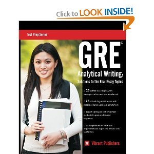 GRE Analytical Writing: Solutions to the Real Essay Topics pdf epub