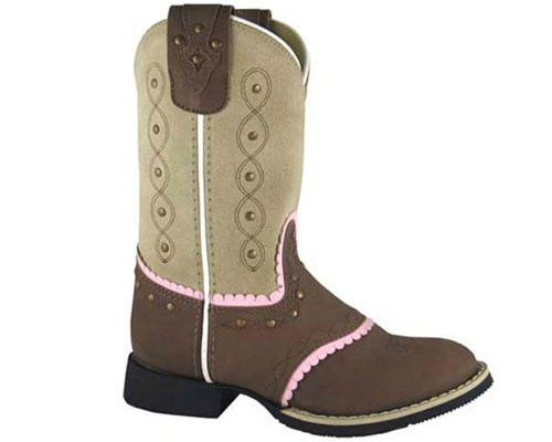 Smoky Mountain Girls' Ruby Belle Western Boot Round Toe Brown 5 D(M) (Round Toe Girls Boots)