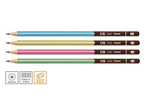Lápis HB Apontado, CIS, Sweet 52.8601, Grafite, pacote de 4