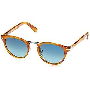 Persol Mens Sunglasses (PO3108) Brown/Blue Acetate - Polarized - 49mm