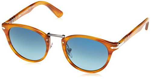 Persol Mens Sunglasses (PO3108) Brown/Blue Acetate - Polarized - - Persol Lenses Polarized
