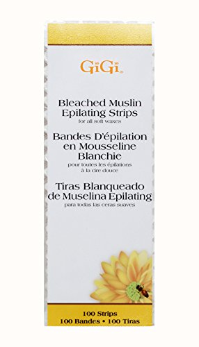 (Gigi Bleached Muslin Epilating Strips, Small, 100 Count)