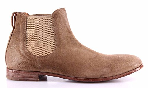 Chaussures Homme Bottes MOMA 10606-3D Softy Flint Chamois Beige Vintage Made IT