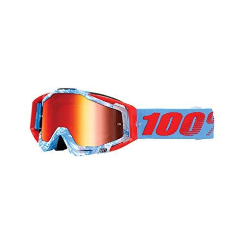 Mx Intake Goggle (100% Racecraft Bobora 2016 MX Goggles Blue/Orange/Red Mirror Lens)