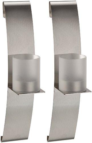 CHG 3431-00 Wandleuchter mit Glaszylinder 2-er Set (25,5 x 5 x 8,5 cm)