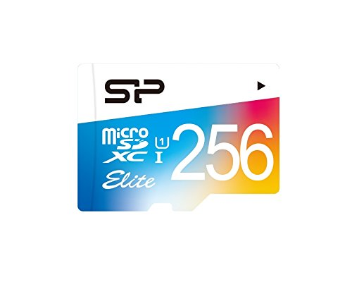 256GB Silicon Power Elite microSDXC CL10 UHS-1 85MB/sec Colorful Memory Card With Adapter by Silicon Power (Image #1)