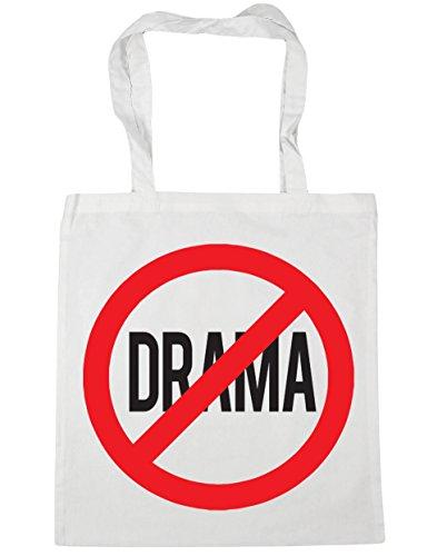 HippoWarehouse no Drama Tote Compras Bolsa de playa 42cm x38cm, 10litros blanco