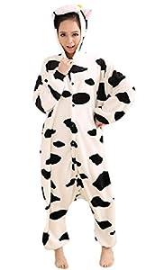 SPJ: Cow Kigurumi Pajamas Warm Loungewear Onesie Cosplay Costume Unisex