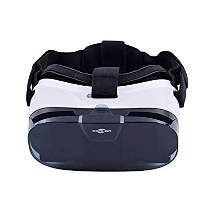 SARLAR 3D VR Glasses, virtual reality headset Movie Game For IOS, Android, Microsoft& PC phones Series within 4 - 6.5 Inch