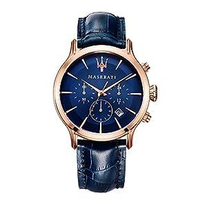 Orologio da uomo, Collezione Epoca, movimento al quarzo, cronografo, in acciaio, PVD oro rosa e cuoio - R8871618007 14