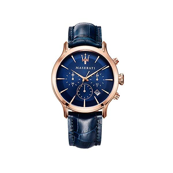 Orologio da uomo, Collezione Epoca, movimento al quarzo, cronografo, in acciaio, PVD oro rosa e cuoio - R8871618007 1