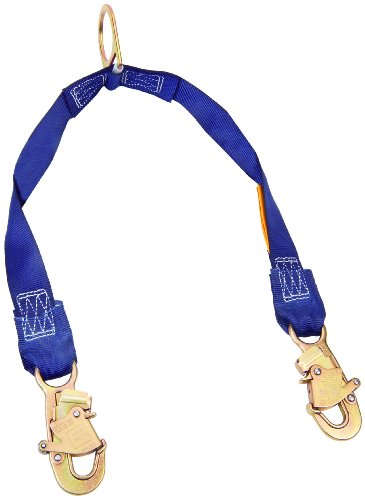 (3M DBI-SALA 1231470 Rescue/Retrieval Y-Lanyard, 2' with D-Ring At Center, Snap Hooks At Leg Ends, Navy)