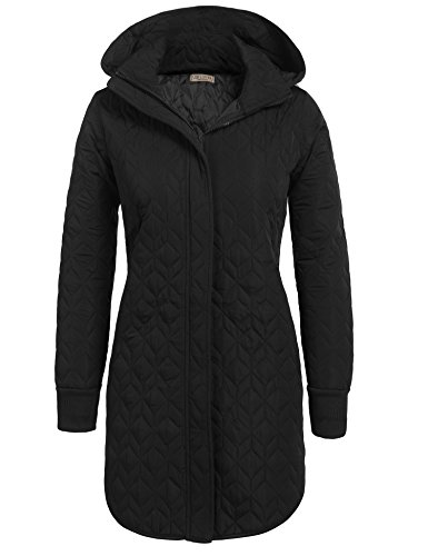 Quilted Hooded Coat - 7