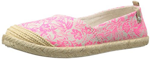 Roxy RG Flamenco Slip On Shoe (Little Kid/Big Kid), Pink, 5 M US Big Kid