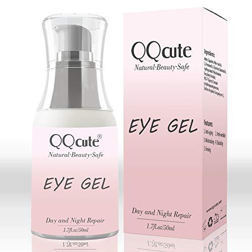 41c1GSE%2BF5L - Eye Gel, QQcute Day & Night Anti-Aging Eye Treatment Cream for Wrinkle, Dark Circle, Fine Line, Puffy Eyes, Bags Best Hydrogel Eye Moisturizer for Women Mother's Day Gift - 1.7 fl oz.