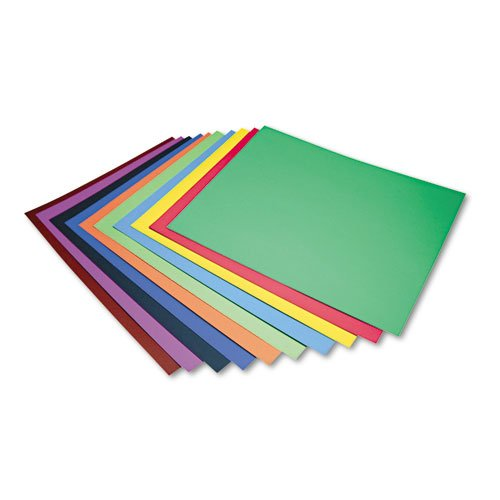 (Four-Ply Railroad Board in Ten Assorted Colors, 28 x 22, 100/Carton, Sold as 100 Each)