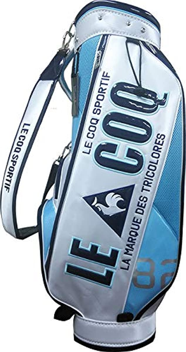 [해외] 르꼬끄 골프 캐디백 9퍼터입 QQBOJJ11KA 프레스토 오리지널 모델 화이트×스카이 블루×네이비