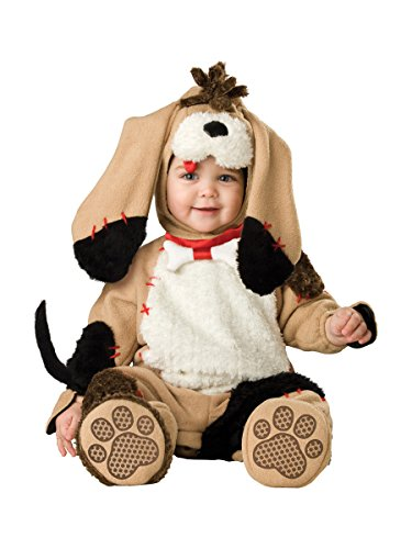 InCharacter Costumes Baby's Precious Puppy Costume, Tan/Black/White, 12-18 Months - Baby Girl Dog Costume