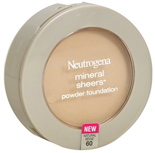 The Natural Sheer Foundation - Neutrogena Mineral Sheers Powder Foundation, Natural Beige [60], 0.34 oz (Pack of 2)
