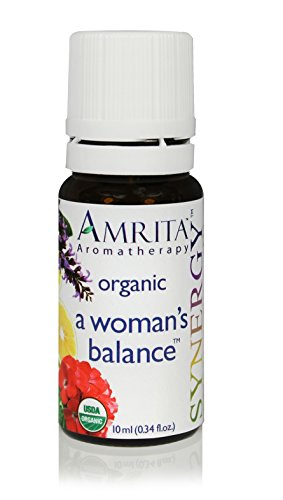 A Woman's Balance Synergy - USDA Certified Organic Essential Oil Blend of Clary Sage, Bergamot, Rose Geranium, & Roman Chamomile - SIZE: 60ML by Amrita