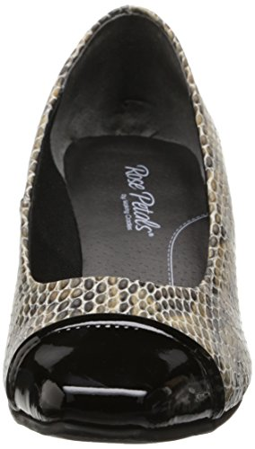 Walking Women's Black Print Patent Pump Cradles Race Dress Viper Taupe 6vfawr6x