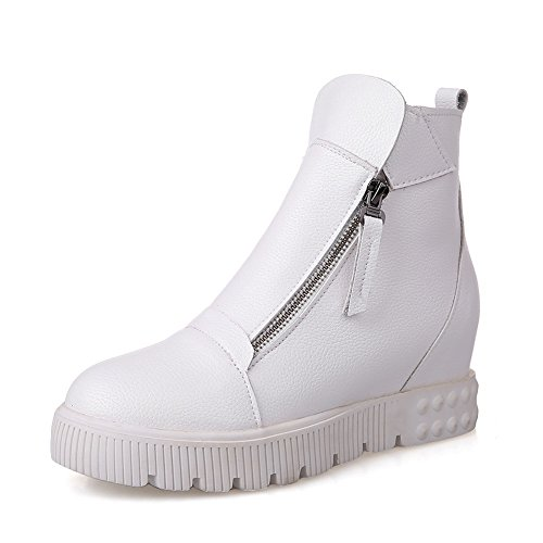 Imitated White Leather Platform Thick Bottom Heel Boots Heighten Matching Ladies Inside AdeeSu Color wqRB7nz