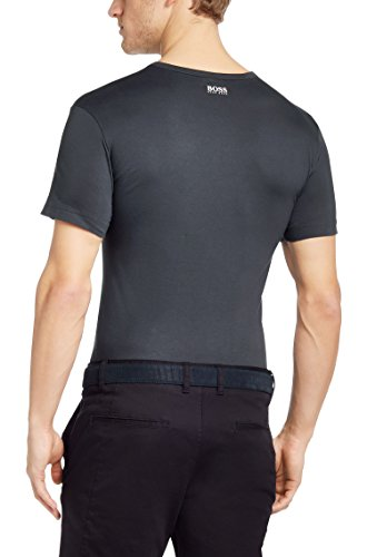 Hugo Boss Men's Short Sleeve Pure Cotton T-shirt 'Tee 8' - Dark Grey (XL)