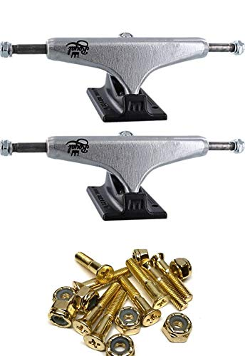Royal Truck Co. Mini Crown Polished/Black Skateboard Trucks with 1