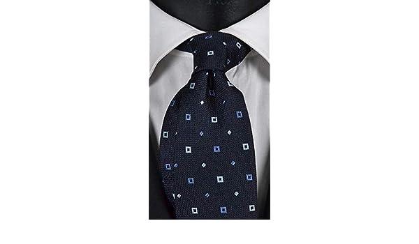 Corbata de hombre azul con micro fantasía blanca y lavanda Exclusive Texture: Amazon.es: Ropa y accesorios