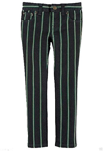 Ralph Lauren Girls Elliot Striped Wash Bowery Skinny Jeans Pants Size 6