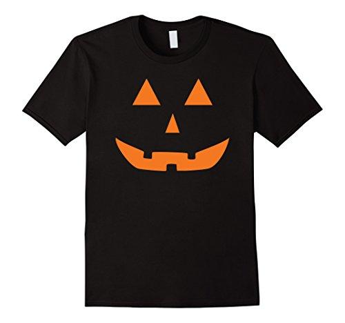 [Men's Jack O' Lantern Pumpkin Halloween Costume T-Shirt Funny Small Black] (Adult Pumpkin Halloween Costumes)