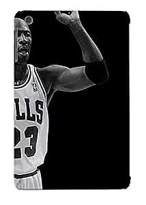 Fashionable Style Case Cover Skin Series For Ipad Mini/mini 2- Grayscale Nba Basketball Michael Jordan Chicago Bulls
