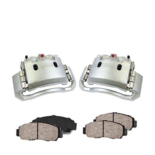 CCK02772 [2] FRONT Premium Loaded OE Caliper Assembly Set + [4] Quiet Low Dust Ceramic Brake Pads