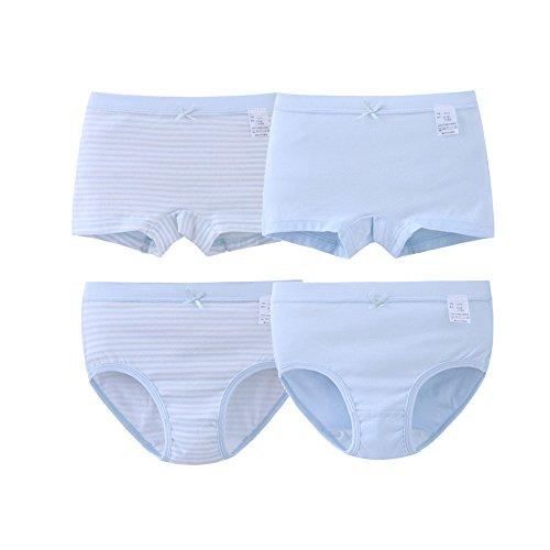 ADAHOP Girls Butterfly Print Tagless Briefs Underwear Super Soft Panties 4 -Pack