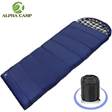 ALPHA CAMP Lightweight Envelope Sleeping Bag for 3 Season Camping Backpacking Hiking Temp Rating
