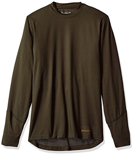 - Terramar Men's Thermolator Climasense 4-Way Stretch Brushed Crew Neck Top, Dark Loden, Small (34
