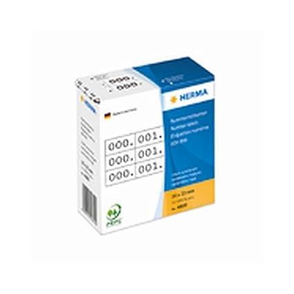nummerierte Almacenamiento etiquetas en rollo en un práctico dispensador de cartón, varios colores blanco Dimensiones