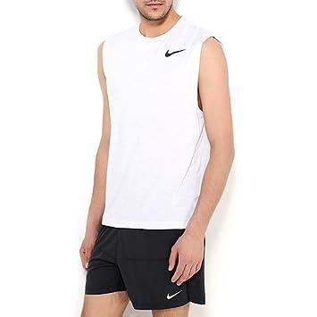 e6d37d28 Nike Men Dri-Fit Training Muscle Tank Top - White/Black, Medium:  Amazon.co.uk: Sports & Outdoors