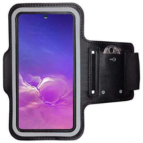 CoverKingz Sportarmband voor Samsung Galaxy S21 Ultra 5G – armtas met sleutelvak Galaxy S21 Ultra 5G – sport looparmband…
