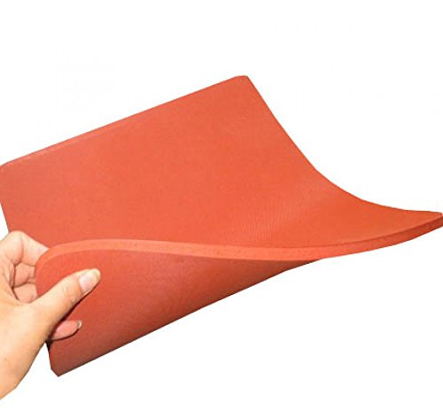 ePhotoInc Silicone Pad Flat Heat Press Replacement Heat Resistant Silicone Mat 15 x 15 Inches 15MatRed