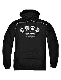 Trevco Cbgb-Classic Logo - Adult Pull-Over Hoodie - Black, 2X