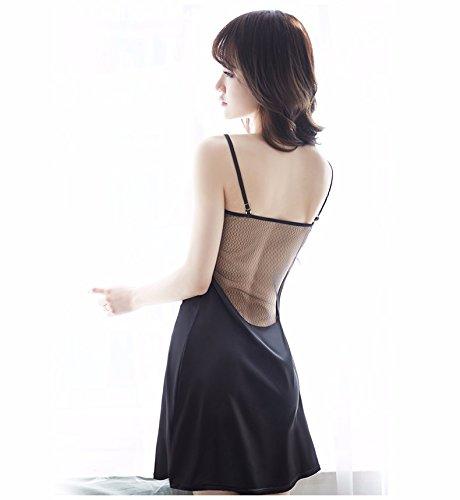 prospettiva black Casa acqua XiaoJieJie Corsetto gusto notte indossare Enorme in Arredamento camicia cava femminile pigiama nero pizzo solubile da gz0UHz