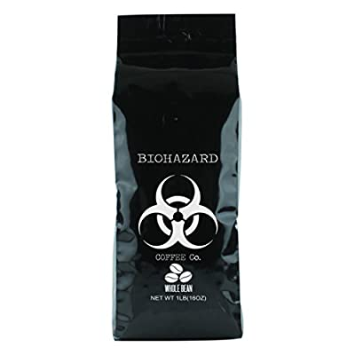 Biohazard Coffee Biohazard Whole Bean Coffee, 16 oz