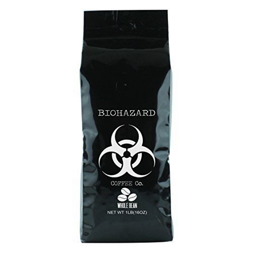 Biohazard Whole Bean Coffee, The World's Strongest Coffee (16 Ounce)